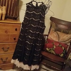 Black lace dress,  size Large by Three Pink Hearts